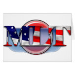 MLT in the  USA MEDICAL LABORATORY TECH FLAG Greeting Card