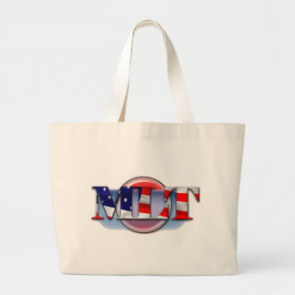 MLT in the  USA MEDICAL LABORATORY TECH FLAG Large Tote Bag