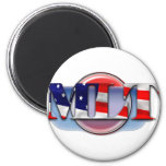 MLT in the  USA MEDICAL LABORATORY TECH FLAG Magnets