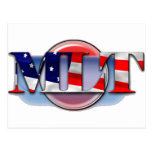 MLT in the  USA MEDICAL LABORATORY TECH FLAG Post Cards