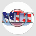 MLT in the  USA MEDICAL LABORATORY TECH FLAG Sticker
