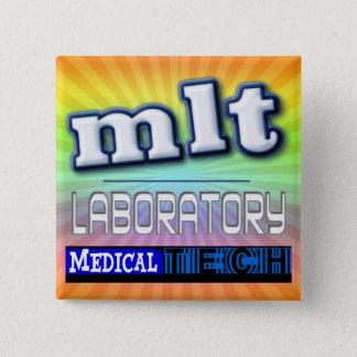 MLT LOGO - LABORATORY MEDICAL TECH BUTTON
