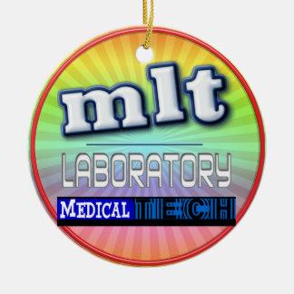 MLT LOGO - LABORATORY MEDICAL TECH CERAMIC ORNAMENT