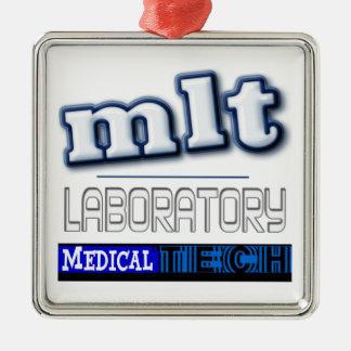MLT LOGO - LABORATORY MEDICAL TECH METAL ORNAMENT