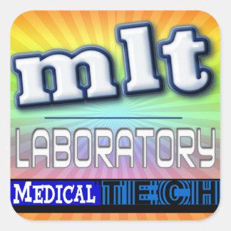 MLT LOGO - LABORATORY MEDICAL TECH SQUARE STICKER