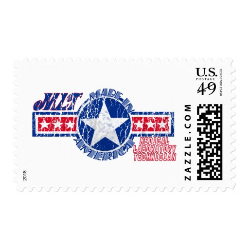 MLT MADE IN AMERICA - MEDICAL LABORATORY TECH STAMPS