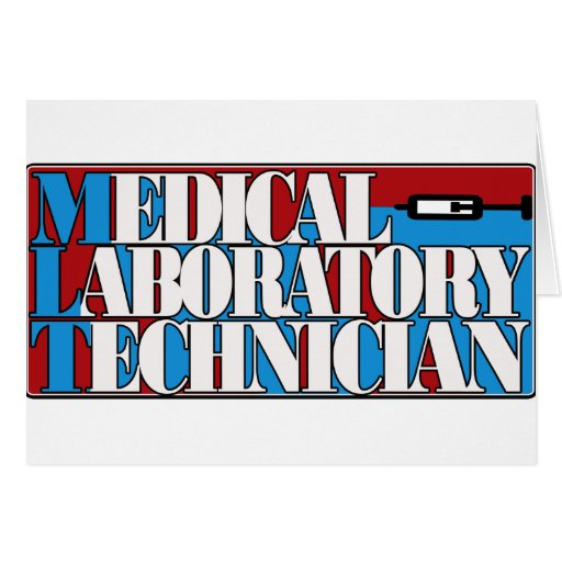 MLT MEDICAL LABORATORY TECHNICIAN RED BLUE TECHNO CARD
