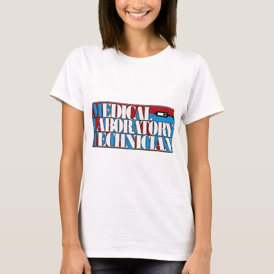 MLT MEDICAL LABORATORY TECHNICIAN RED BLUE TECHNO T-Shirt