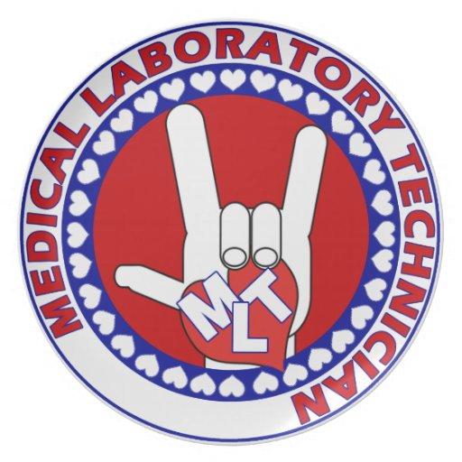 MLT MEDICAL  LABORATORY TECHNOLOGIST I LOVE ASL DINNER PLATES
