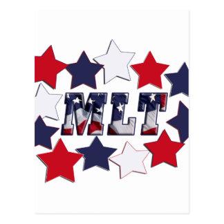 MLT PATRIOTIC STARS - MEDICAL LABORATORY TECH POSTCARD
