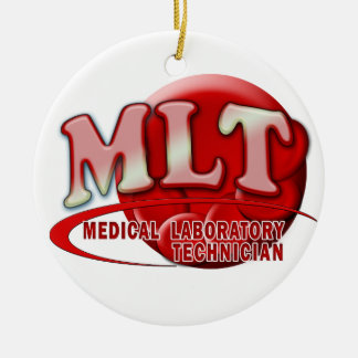 MLT RBC MEDICAL LABORATORY TECH BLOOD CELLS LOGO CERAMIC ORNAMENT