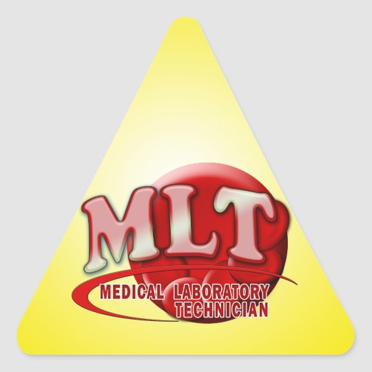 MLT RBC MEDICAL LABORATORY TECH BLOOD CELLS LOGO TRIANGLE STICKER