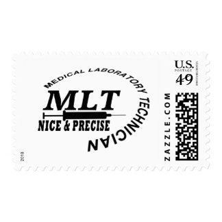 MLT SLOGAN NICE AND PRECISE MEDICAL LAB TECH POSTAGE