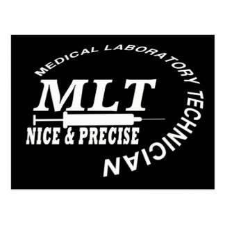 MLT SLOGAN NICE AND PRECISE MEDICAL LAB TECH POST CARD