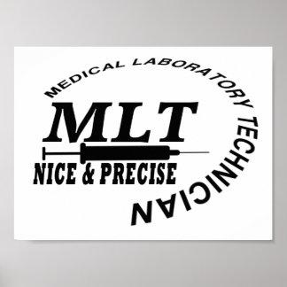 MLT SLOGAN NICE AND PRECISE MEDICAL LAB TECH PRINT