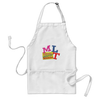 MLT WHIMSICAL FUN ACRONYM LETTERS LABORATORY ADULT APRON