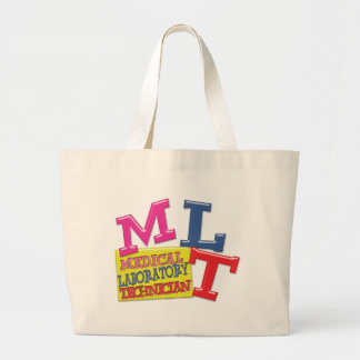 MLT WHIMSICAL FUN ACRONYM LETTERS LABORATORY LARGE TOTE BAG