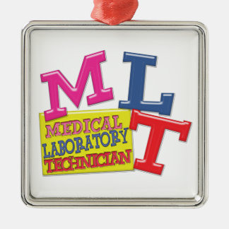 MLT WHIMSICAL FUN ACRONYM LETTERS LABORATORY METAL ORNAMENT