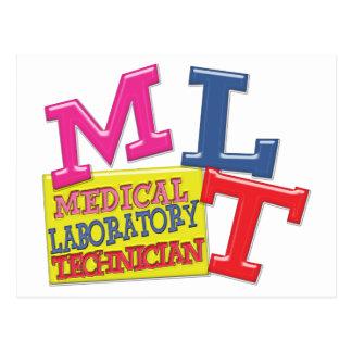 MLT WHIMSICAL FUN ACRONYM LETTERS LABORATORY POSTCARD