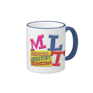 MLT WHIMSICAL FUN ACRONYM LETTERS LABORATORY RINGER COFFEE MUG