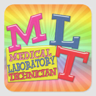 MLT WHIMSICAL FUN ACRONYM LETTERS LABORATORY SQUARE STICKER