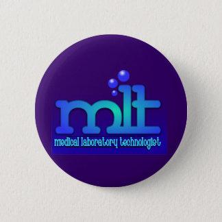 MLT - WTIH BUBBLES - MEDICAL LABORATORY TECH BUTTON
