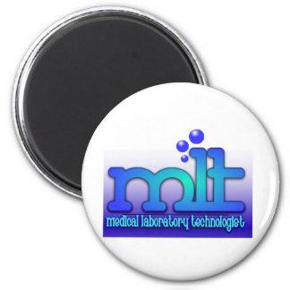 MLT - WTIH BUBBLES - MEDICAL LABORATORY TECH MAGNET