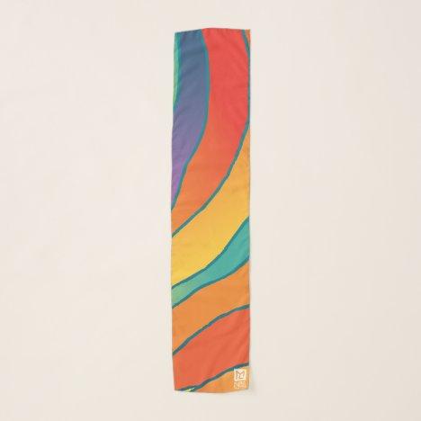 MLTS Chalice Art long scarf red/purple