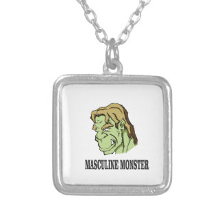 mm beast silver plated necklace