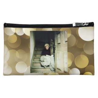 MM in gold Cosmetic Bag