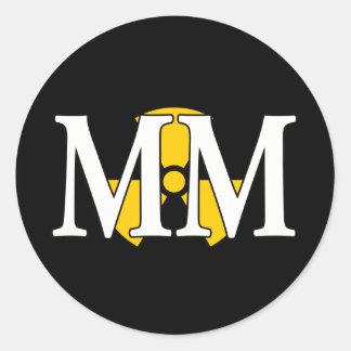 MM - Machinist's Mate Classic Round Sticker