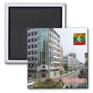 MM - Myanmar Burma - Mandalay 2 Inch Square Magnet