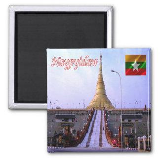MM - Myanmar Burma - Naypyidaw 2 Inch Square Magnet