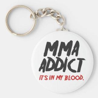 MMA addict Basic Round Button Keychain