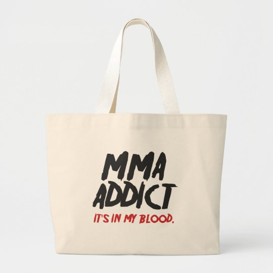 MMA addict Large Tote Bag