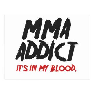 MMA addict Post Card