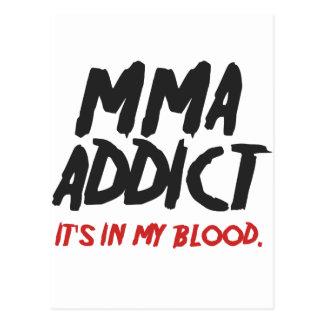 MMA addict Postcard