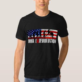 MMA Evolution Chart (Flying Knee) American Flag T- T Shirt