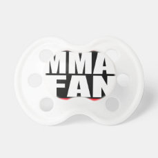 MMA FAN mixed martial arts MMA BooginHead Pacifier