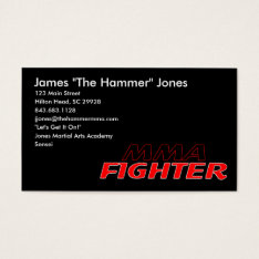 Mma Fighter Business Card at Zazzle