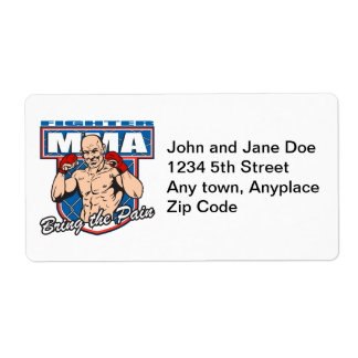 MMA Fighter Label
