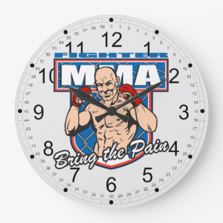MMA Fighter Large Clock