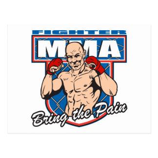 MMA Fighter Postcard
