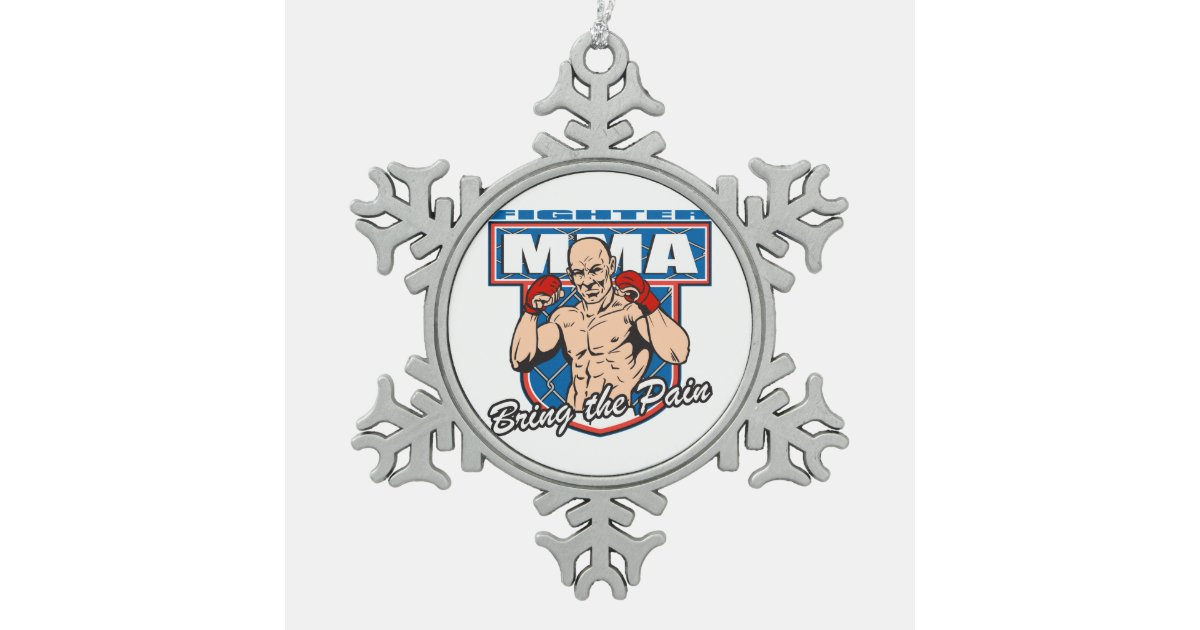 MMA Fighter Snowflake Pewter Christmas