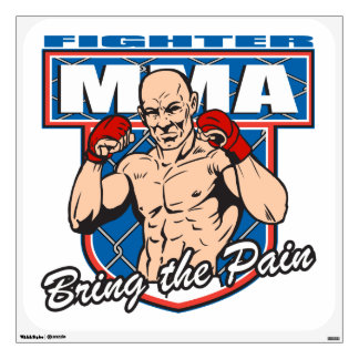 MMA Fighter Wall Sticker