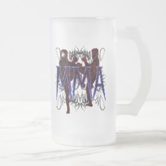 MMA Fighters Frosted Beer Glass Frosted Glass Beer Mug