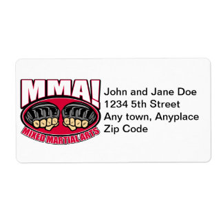 MMA Fists Shipping Label