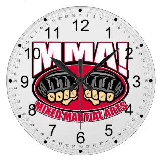 MMA Fists Large Clock