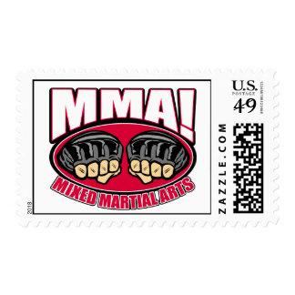 MMA Fists Postage Stamp