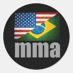 MMA Flags Sticker